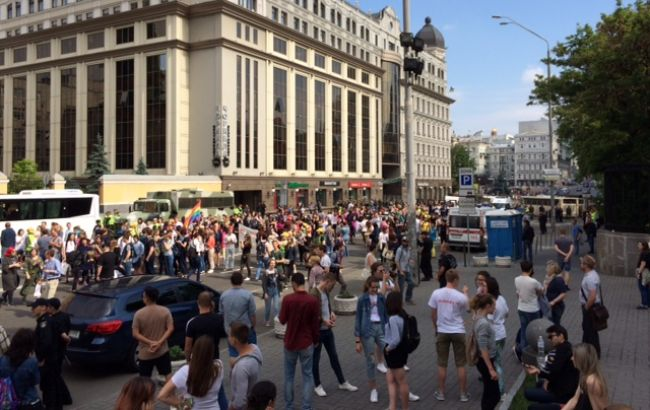 Фото: ЛГБТ-марш в Киеве (РБК-Украина)