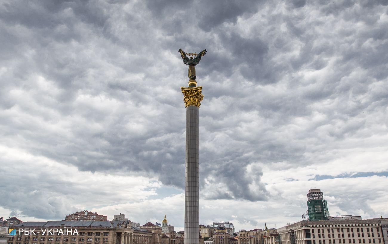 На Київ насувається гроза та град
