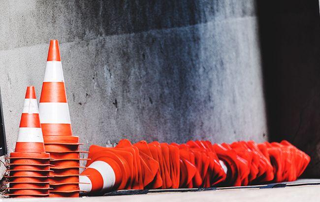 Фото: обмеження дорожнього руху (РБК-Україна)
