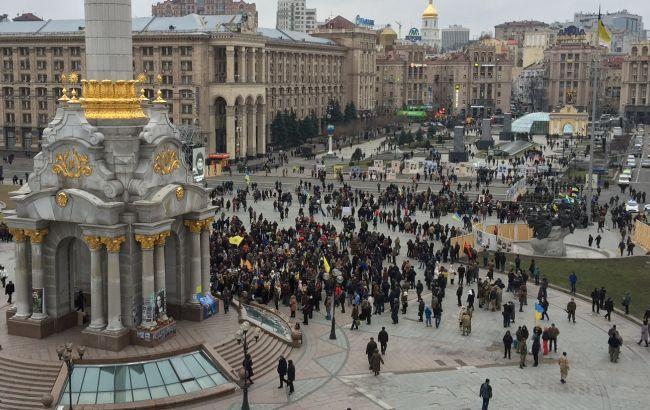 На Майдані сталася сутичка правоохоронців з протестувальниками