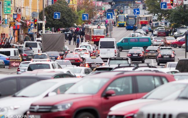 На дорогах Киева образовались пробки