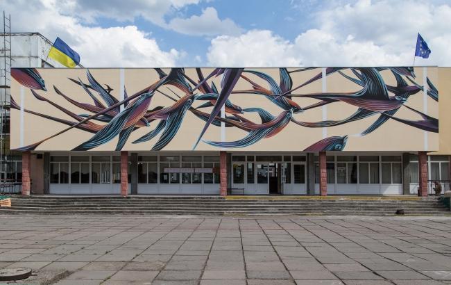 """Португальський художник """"оживив"""" стіни черкаської школи"""