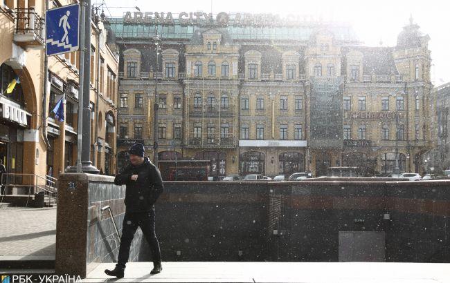 В Украине выпало до 8 см снега