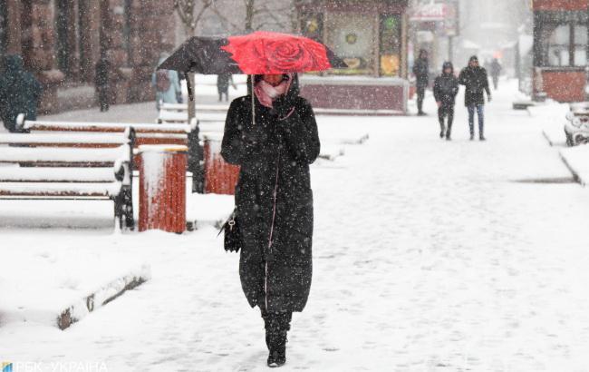 Погода на сегодня: в Украине снег, днем до -5