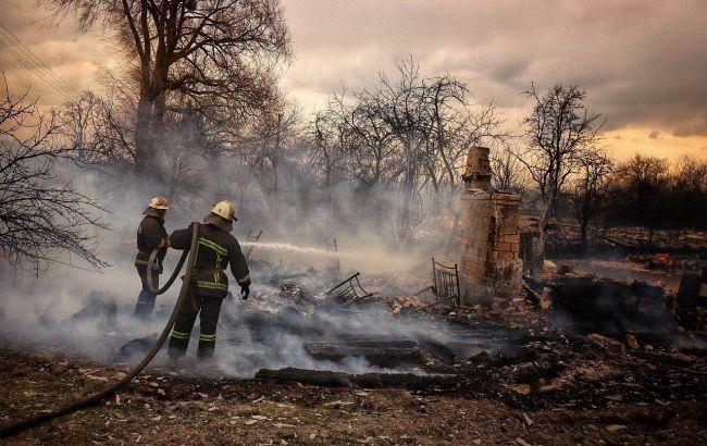 В Житомирской области из-за возгорания сухой травы сгорела улица из 27 домов
