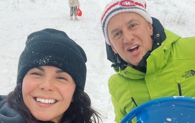 Щастя через край: Потап і Каменських показали свої снігові забави і зимову романтику