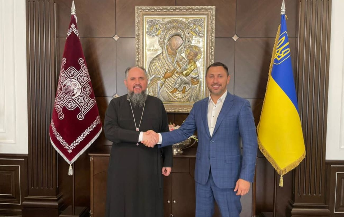Стрихарский обсудил с Епифанием законопроект о службе военного капелланства