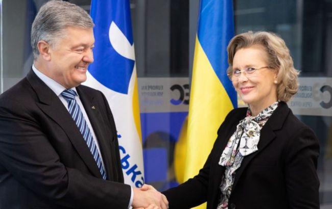 Порошенко обсудил с главой ПА ОБСЕ ситуацию на оккупированных территориях Украины