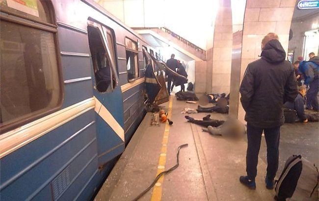 Фото: место совершения теракта в метро Санкт-Петербурга