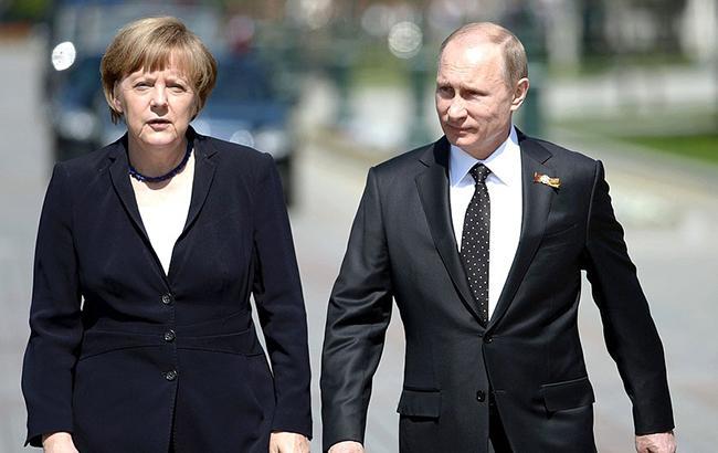 Фото: Ангела Меркель і Володимир Путін (kremlin.ru)