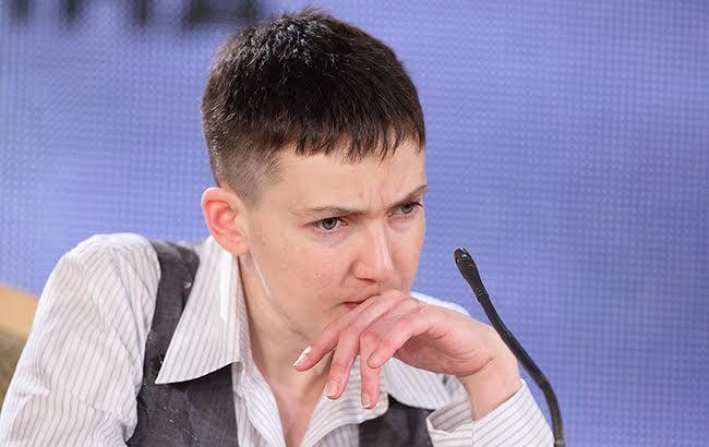 Фото: в ході прес-конференції Савченко оголосила голодування