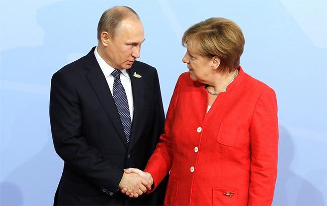 Фото: Ангела Меркель и Владимир Путин (kremlin.ru)