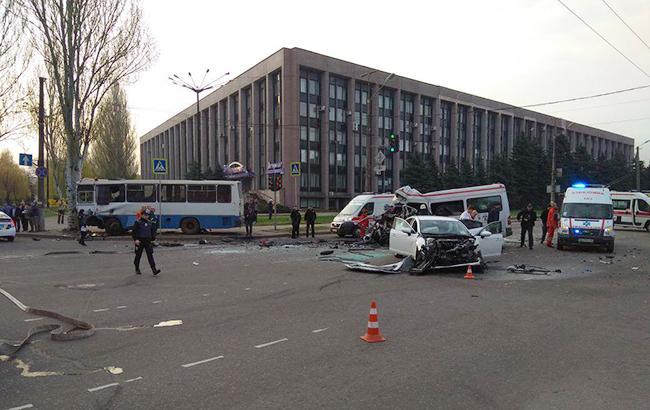 ДТП в Кривом Роге: полиция задержала одного из участников аварии