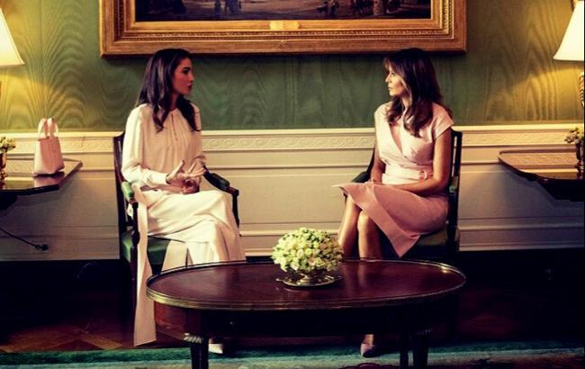 Фото: королева Рания и Мелания Трамп (instagram.com/flotus)