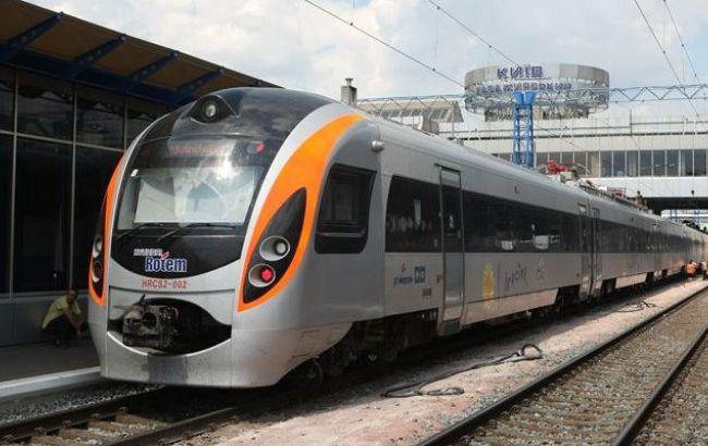 """Фото: швидкісний потяг """"Інтерсіті"""""""