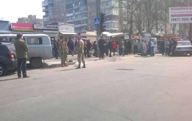 "Фото: ДТП произошло возле рынка ""Рижский"" в Мелитополе"