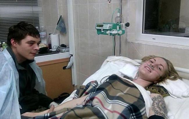 Фото: Яна Зінкевич після аварії в грудні 2015 року (dniprograd.org)