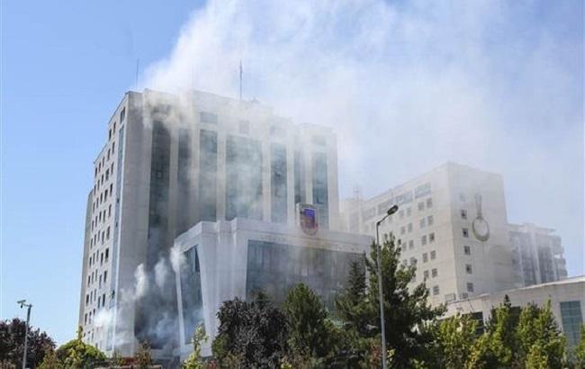 Фото: пожар в турецкой жандармерии