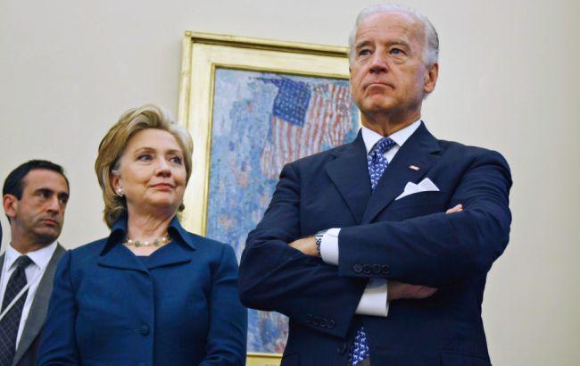 Фото: Хиллари Клинтон и Джозеф Байден