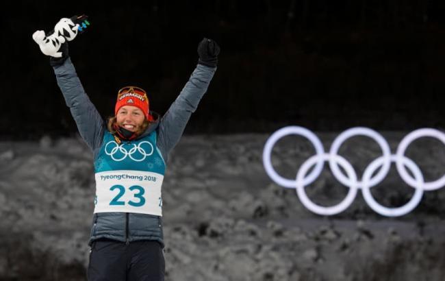 Немецкая биатлонистка стала двукратной олимпийской чемпионкой Пхенчхана