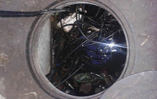 Фото: кабельный коллапс в Днепродзержинске (пресс-служба ГУ НП в Днепропетровской области)