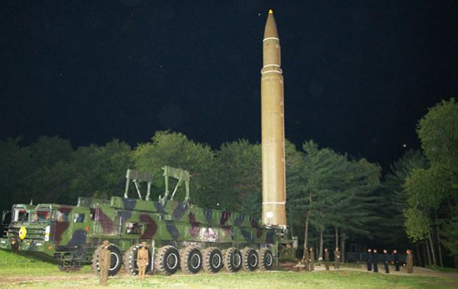 Фото: Ракета кНДР (kcna.kp)