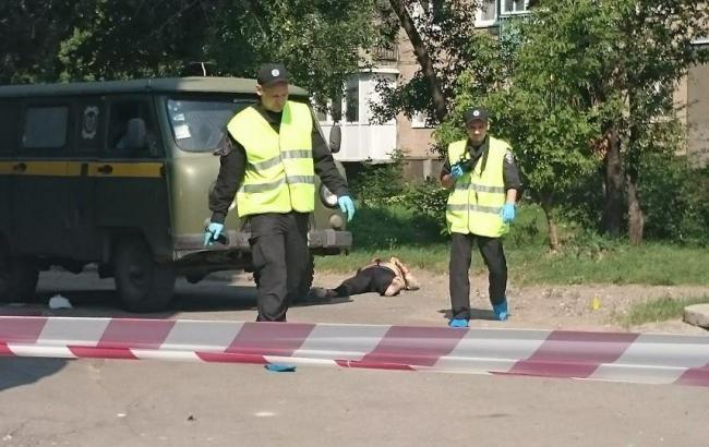 Фото: місце напади на інкасаторів у Харкові