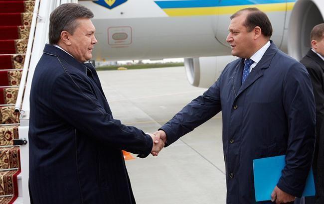 Фото: Янукович і Добкін (kharkivoda.gov.ua)