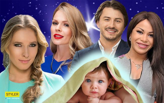 Украинские знаменитости, ставшие родителями в 2017 году (коллаж РБК-Украина)