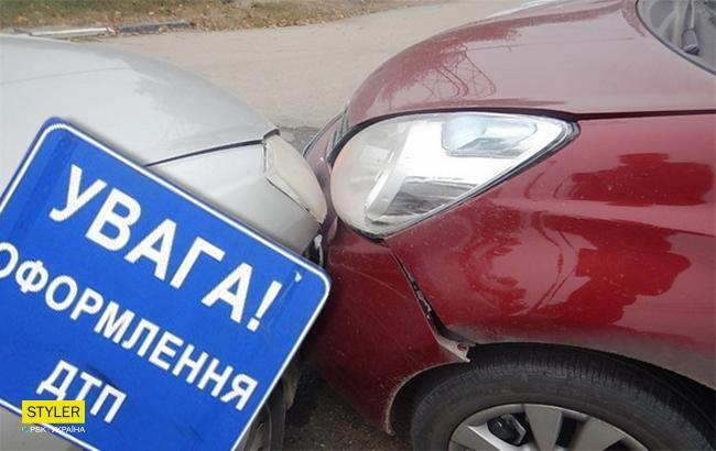 Фото: ДТП в Киеве (Коллаж РБК-Украина)