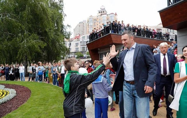 Фото: Виталий Кличко на открытии парка