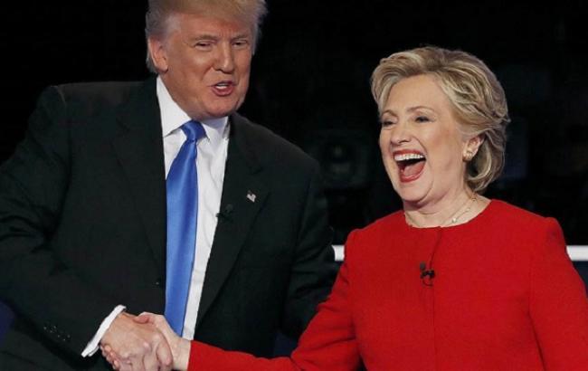 Фото: Дональд Трамп и Хиллари Клинтон на дебатах (svoboda.org)