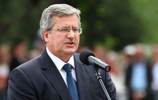 Фото: Президент Польши Бронислав Коморовский