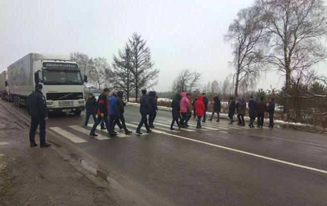 Фото: протесты на границе (МВД)
