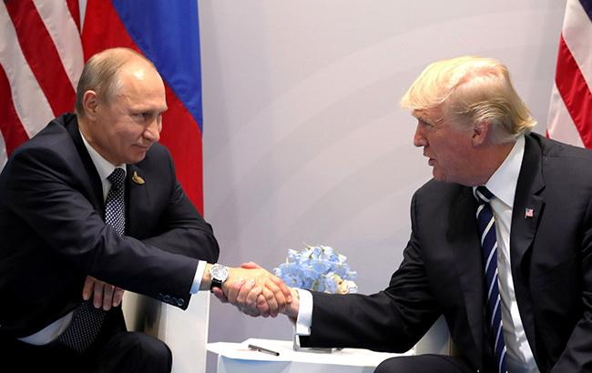 Фото: Володимир Путін і Дональд Трамп (kremlin.ru)