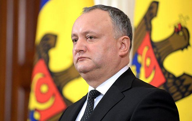 Додон назвав Захід відповідальним за відправку військових Молдови в Україну