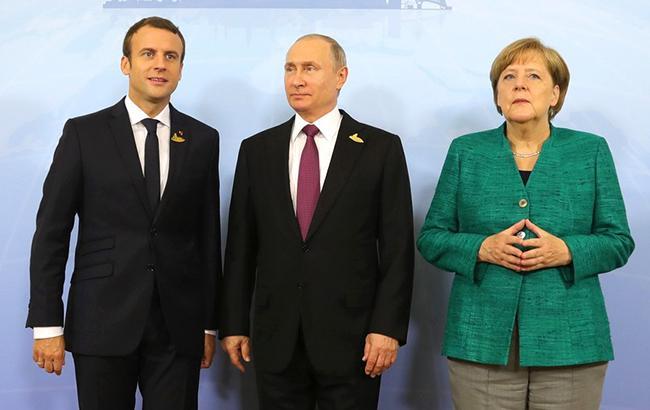 Меркель, Макрон і Путін домовилися про важливість припинення вогню на Донбасі