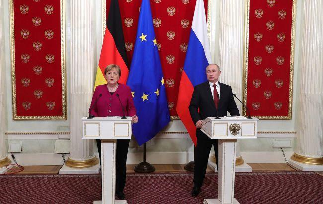 Путін і Меркель обговорили перемир'я на Донбасі