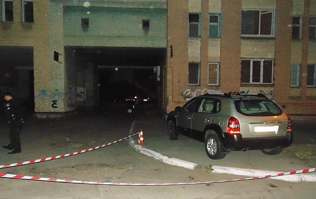 Фото: место нападения на АТОвца в Киеве (kyiv.npu.gov.ua)