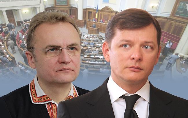 Соратники Олега Ляшко и Андрея Садового осенью регулярно поддерживают голосами коалицию