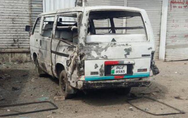 Фото: место теракта в Пакистане