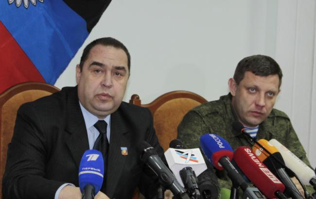 Лидеры ДНР/ЛНР Александр Захарченко и Игорь Плотницкий