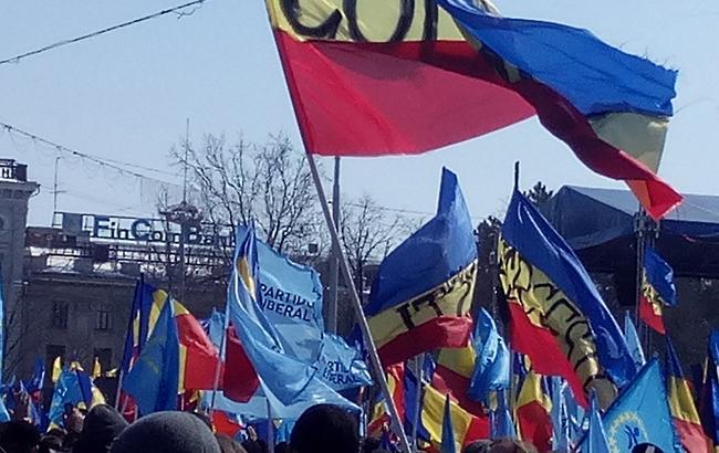 ВКишиневе намитинге заобъединение сРумынией задержали провокаторов