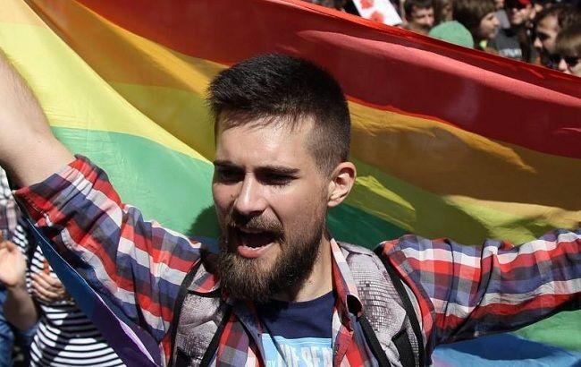 Фото: участник Марша равенства в Киеве