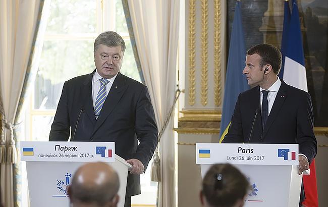 Фото: Петро Порошенко з президентом Франції (president.gov.ua)