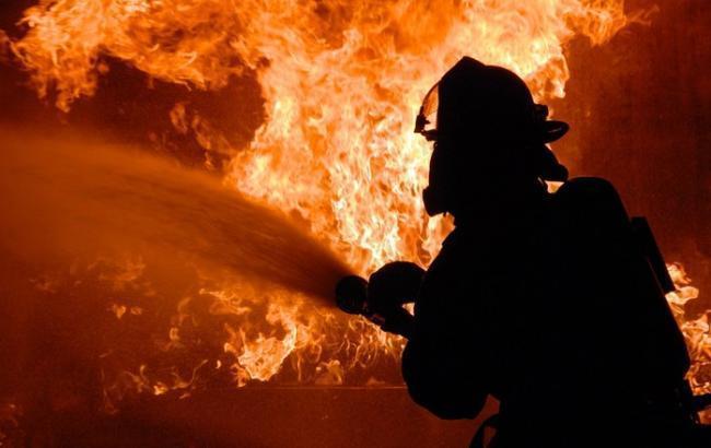 Фото: пожар произошел во Львовской области