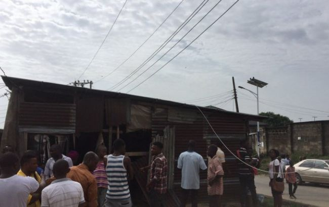 Фото: место трагедии в Нигерии