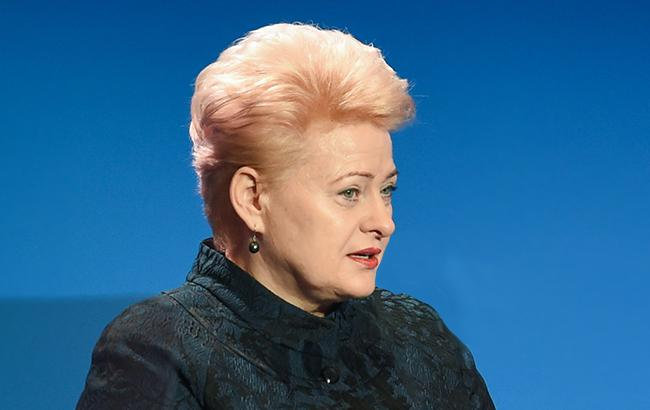 Президент Литвы сделала Порошенко необычный подарок