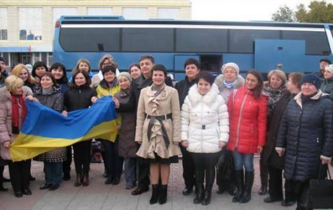 Фото: Луганские учителя отправились в Ривненскую область (facebook.com)