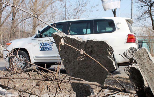 Фото: наблюдатели ОБСЕ на Донбассе